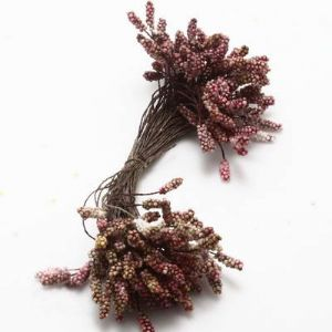 Flower stamen, Dark red, 100 pieces (approximate), 13cm, (ST720)
